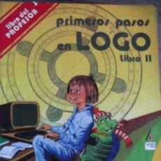 Libros de segunda mano: LIBRO PROGRAMAR PRIMEROS PASOS LOGO PROFESOR. Lote 203102351
