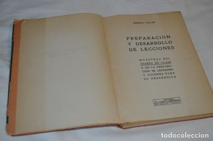 PREPARACIÓN Y DESARROLLO DE LECCIONES / ANICETO VILLAR - EDITORIAL SALVATIERRA ¡MIRA, MUY RARO! (Libros de Segunda Mano - Libros de Texto )