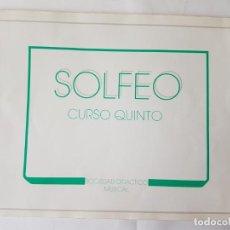 Libros de segunda mano: SOLFEO, 5º CURSO, SOCIEDAD DIDACTICO MUSICAL.. Lote 204682601