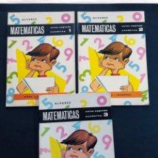 Libros de segunda mano: MATEMATICAS / ALVAREZ / CURSO SEGUNDO ( 2º ) 3 CUADERNOS ( 1-2-3) COMPLETA / MIÑON 1966 / SIN USAR. Lote 205402125