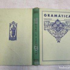 Libros de segunda mano: ESCUELA - GRAMATICA ESPAÑOLA - SEGUNDO GRADO, LIBRO DEL MAESTRO - EDELVIVES 1947 208PP TAPA DURA +. Lote 206811881