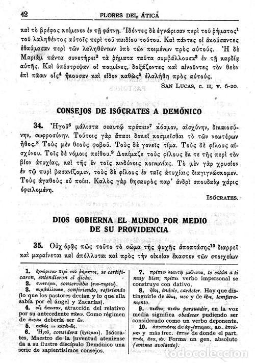 Libros de segunda mano: FLORES DEL ATICA O PAGINAS ESCOGIDAS DE LA LITERATURA GRIEGA. ARISTOTELES. JENOFONTE. ESOPO. - Foto 2 - 206979788