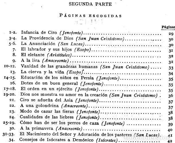 Libros de segunda mano: FLORES DEL ATICA O PAGINAS ESCOGIDAS DE LA LITERATURA GRIEGA. ARISTOTELES. JENOFONTE. ESOPO. - Foto 5 - 206979788