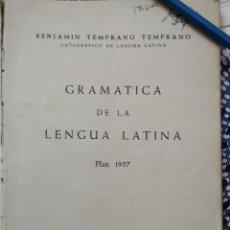 Libros de segunda mano: GRAMÁTICA DE LA LENGUA LATINA 1957 BENJAMÍN TEMPRANO TEMPRANO 1959. Lote 206987517