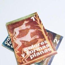 Libros de segunda mano: COLORES Y FORMAS PLANAS 1º Y COLORES Y FORMAS EN EL ESPACIO 2º ANAYA SERIE CATEDRA LUIS ALEGRE 1968. Lote 207087120