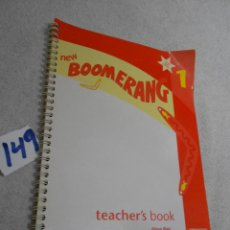 Libros de segunda mano: ANTIGUO LIBRO DE TEXTO - INGLES - BOOMERANG 1 - TEACHER BOOK. Lote 207238493