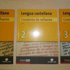 Libros de segunda mano: CUADERNOS DE REFUERZO LENGUA CASTELLANA, 1º,2º Y 3º ESO. EDITORIAL TEIDE. Lote 207239235