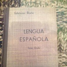 Libros de segunda mano: LENGUA ESPAÑOLA TERCER CURSO -VER FOTOS. Lote 207248303
