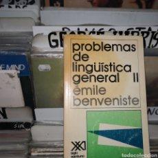 Libros de segunda mano: PROBLEMAS DE LINGÜÍSTICA GENERAL, TOMO 2,EMILE BENVENISTE. Lote 207277317