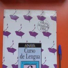 Libros de segunda mano: CURSO DE LENGUA ANAYA 6° 1994. Lote 207294401