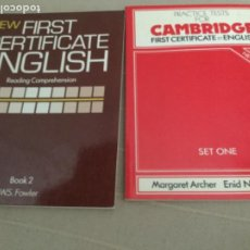 Libros de segunda mano: NEW FIRST CERTIFCATE ENGLISH Y PRACTICE TESTS FOR FIRST CERTIFÍCATE IN CAMBRIDGE. Lote 207831058