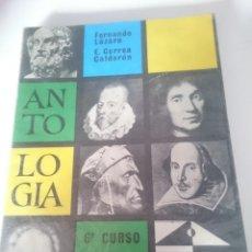 Libros de segunda mano: ANTOLOGIA LITERARIA - 6 CURSO 1975 - ANAYA. Lote 208157681