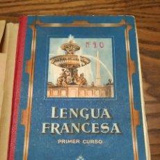 Libros de segunda mano: ANTIGUO LIBRO ESCOLAR LENGUA FRANCESA PRIMER CURSO, AÑO 1953, 224 PÁGINAS, FRANCÉS. Lote 209019945