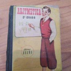 Libros de segunda mano: ANTIGUO LIBRO ARITMÉTICA SEGUNDO 2° GRADO CURSO MEDIO, AÑO 1952, EDICIONES BRUÑO. Lote 209049440