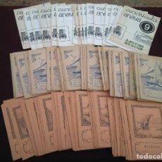 Libros de segunda mano: LOTE, LOTAZO DE 124 ANTIGUOS CUADERNOS DE ESCUELA, TODO FOTOGRAFIADO.. Lote 210008471