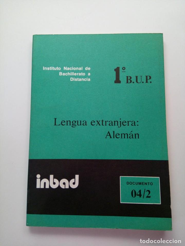 INBAD - LENGUA EXTRANJERA: ALEMÁN - BUP 1º CURSO (Libros de Segunda Mano - Libros de Texto )