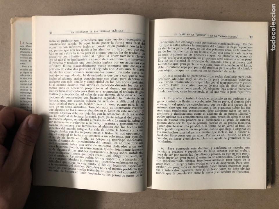 Libros de segunda mano: LA ENSEÑANZA DE LAS LENGUAS CLÁSICAS. MINISTERIO DE EDUCACIÓN NACIONAL 1963. GUÍAS DIDÁCTICAS - Foto 4 - 210216342