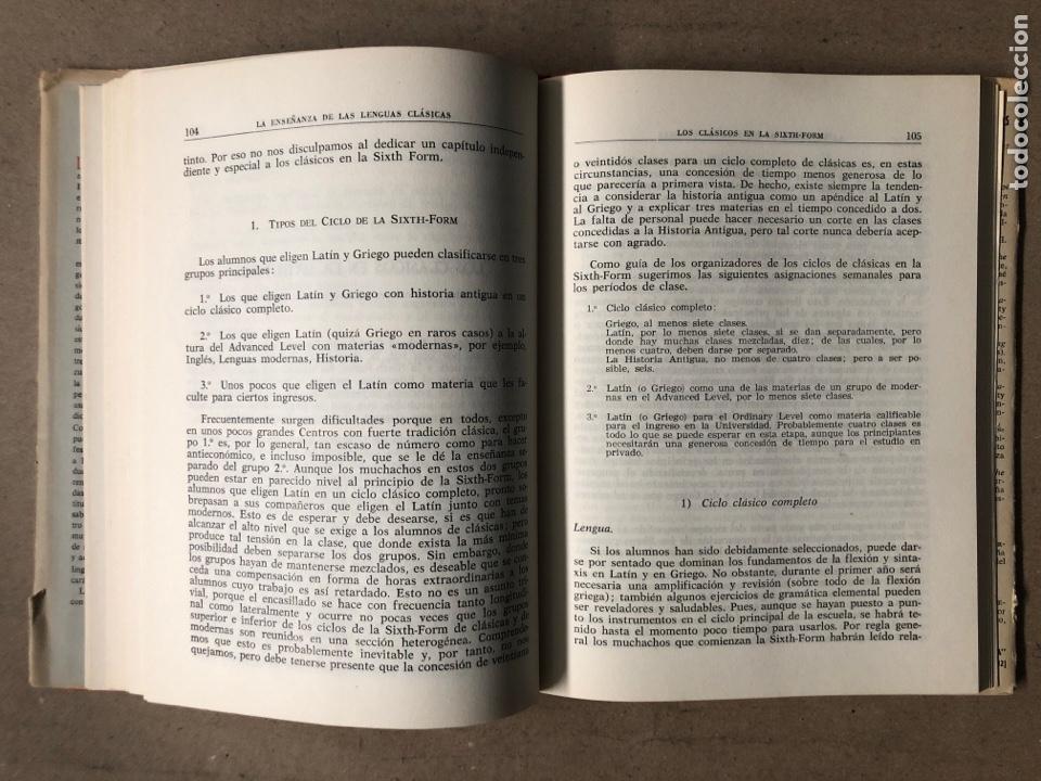 Libros de segunda mano: LA ENSEÑANZA DE LAS LENGUAS CLÁSICAS. MINISTERIO DE EDUCACIÓN NACIONAL 1963. GUÍAS DIDÁCTICAS - Foto 5 - 210216342