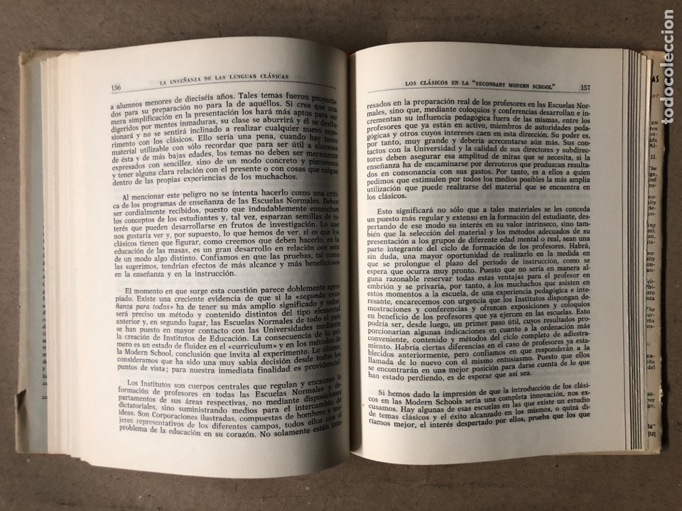 Libros de segunda mano: LA ENSEÑANZA DE LAS LENGUAS CLÁSICAS. MINISTERIO DE EDUCACIÓN NACIONAL 1963. GUÍAS DIDÁCTICAS - Foto 6 - 210216342