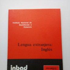 Libros de segunda mano: INBAD - LENGUA EXTRANJERA - INGLÉS - BUP 2º CURSO. Lote 210217037