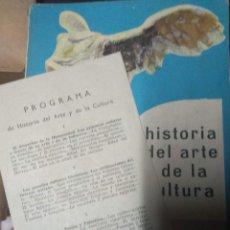 Libros de segunda mano: HISTORIA DEL ARTE Y DE LA CULTURA 6º CURSO - EDITORIAL BRUÑO 1972 CON PROGRAMA. Lote 210604476