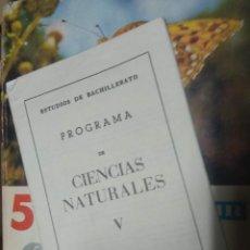 Libros de segunda mano: CIENCIAS NATURALES 5º - R. VERDÚ PAYÁ Y E. LÓPEZ MEZQUIDA - ECIR CON PROGRAMA. Lote 210602741