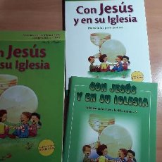 Libros de segunda mano: 11-00437 ISBN 978-84-285-2704-0 Y 3483-3 Y 3876-3 CON JESUS EN SU IGLESIA. Lote 210746991