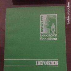 Livros em segunda mão: MATERIAL DIDACTICO PARA LA SEGUNDA ETAPA EGB, INFORME, EDUCACION SANTILLANA 1973 RARO. Lote 211569736
