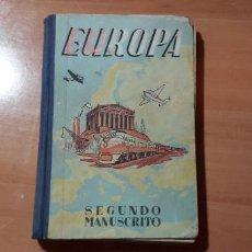Libros de segunda mano: 11-000464 - EUROPA, SEGUNDO MANUSCRITO, DALMAU CARLES. Lote 212306481