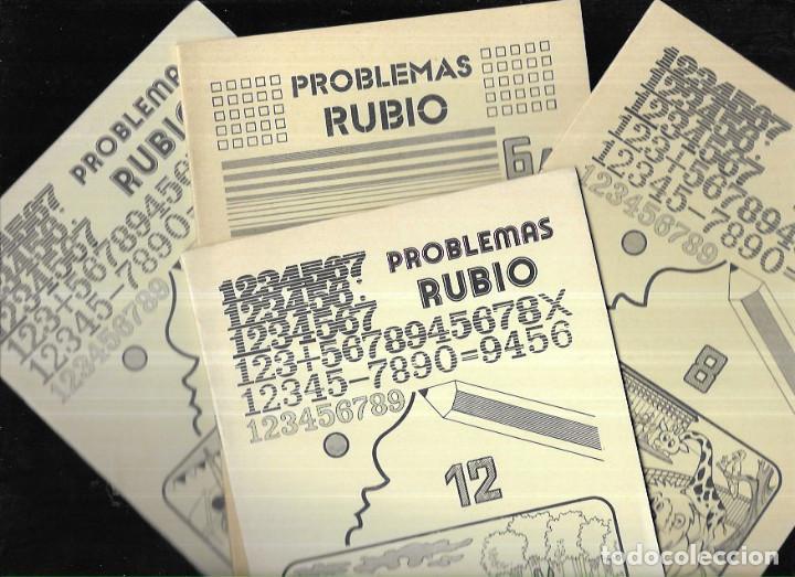 4 CUADERNOS * PROBLEMAS RUBIO * 6A - 7 - 8 - 12* 1978 (Libros de Segunda Mano - Libros de Texto )