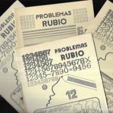 Libros de segunda mano: 4 CUADERNOS * PROBLEMAS RUBIO * 6A - 7 - 8 - 12* 1978. Lote 213417055