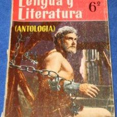 Libros de segunda mano: LENGUA Y LITERATURA 6º - ANTOLOGÍA - EDICIONES SM (1974). Lote 213759992