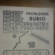 Libros de segunda mano: CUADERNILLO PROBLEMAS 18 (SUMAR, RESTAR, MULTIPLICAR Y DIVIDIR VARIAS CIFRAS). ED. RUBIO 1978. Lote 213804616