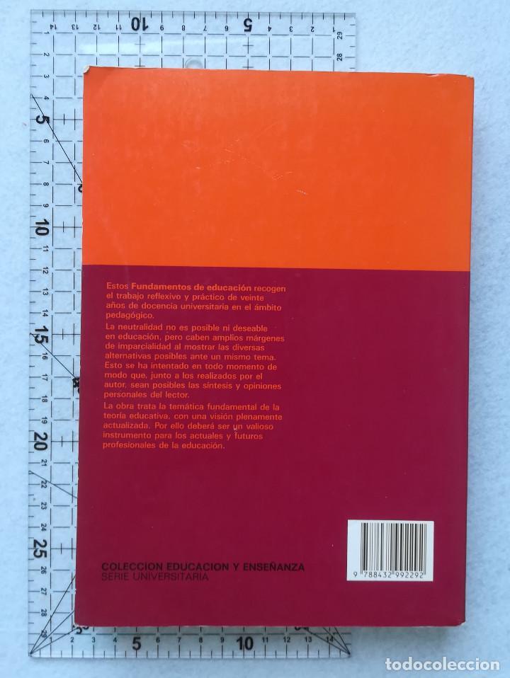 Libros de segunda mano: Fundamentos De Educación - Jaume Sarramona - Ceac - 2ª Ed. 1991 - Foto 2 - 213978843