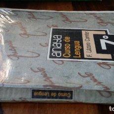 Libros de segunda mano: CURSO DE LENGUA 7º EGB ANAYA, F. LÀZARO CARRETER. Lote 214572290