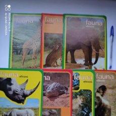 Libros de segunda mano: LOTE DE 7 CUADERNOS ESCOLARES, FAUNA AFRICANA, FÉLIX RODRÍGUEZ DE LA FUENTE. Lote 214680998