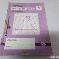 Libros de segunda mano: CUADERNOS SISTEMA DE ESCRITURA EDELVIVES DEL 1 AL 13. Lote 214754706