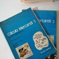 Libros de segunda mano: CÁLCULO MERCANTIL 1 Y 2. ADMINISTRATIVO Y SECRETARIADO. JAIME MOIX.. Lote 215126141