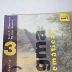 Libros de segunda mano: MATEMÁTICAS 3 SECUNDARIA. SIGMA.. Lote 215126746