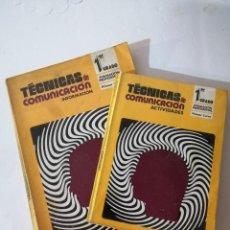 Libros de segunda mano: TÉCNICAS DE COMUNICACIÓN. INFORMACIÓN. FP1-1.. Lote 215127167