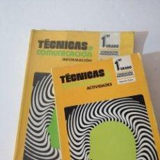 Libros de segunda mano: TÉCNICAS DE COMUNICACIÓN. FP1-2.. Lote 215128450
