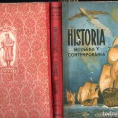 Libros de segunda mano: EDELVIVES : HISTORIA MODERNA Y CONTEMPORÁNEA 4º CURSO (1954). Lote 216573818