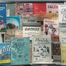 Libros de segunda mano: 26 CUADERNOS VINTAGE DIFERENTES DE ESCUELA AÑOS 70 / CALIGRAFIA - PROBLEMAS - ESCRITURA / SIN USAR. Lote 217141940