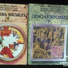 Libros de segunda mano: LOTE CIENCIAS SOCIALES 6º Y 7º - ANAYA - EGB. Lote 217387403
