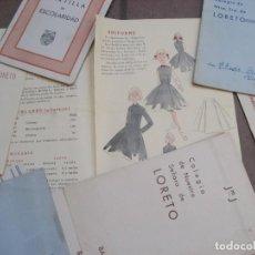 Libros de segunda mano: DOCUMENTOS ESCOLARES COLEGIO NUESTRA SEÑORA DE LORETO BARCELONA CARTILLA UNIFORME DIPLOMA AÑOS 50. Lote 217705095