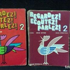 Libros de segunda mano: REGARDEZ! ECOUTEZ! PARLEZ! 2º EGB - DOS LIBROS. Lote 218218310