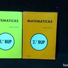 Libros de segunda mano: MATEMÁTICAS, 1º Y 2º. BUP.- GOBERNA - PASTOR.- ED BELLO. Lote 218913110