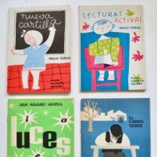 Libros de segunda mano: LOTE DE 4 LIBROS ESCOLARES.TRILLO TORIJA. NUEVA CARTILLA Y LECTURAS. LUCES DE J. NAVARRO. ESCRITURA. Lote 218914698