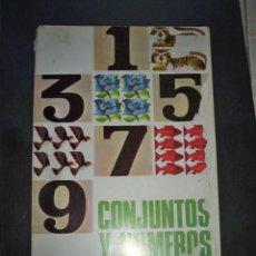 Libros de segunda mano: CONJUNTOS Y NÚMEROS 1 MATEMÁTICAS PRIMER CURSO MAGISTERIO ESPAÑOL 1966. Lote 218926158