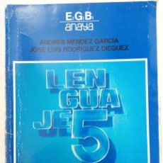 Libros de segunda mano: LENGUAJE 5º EGB ANAYA. Lote 218929805